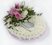 Pink Crown Wreath